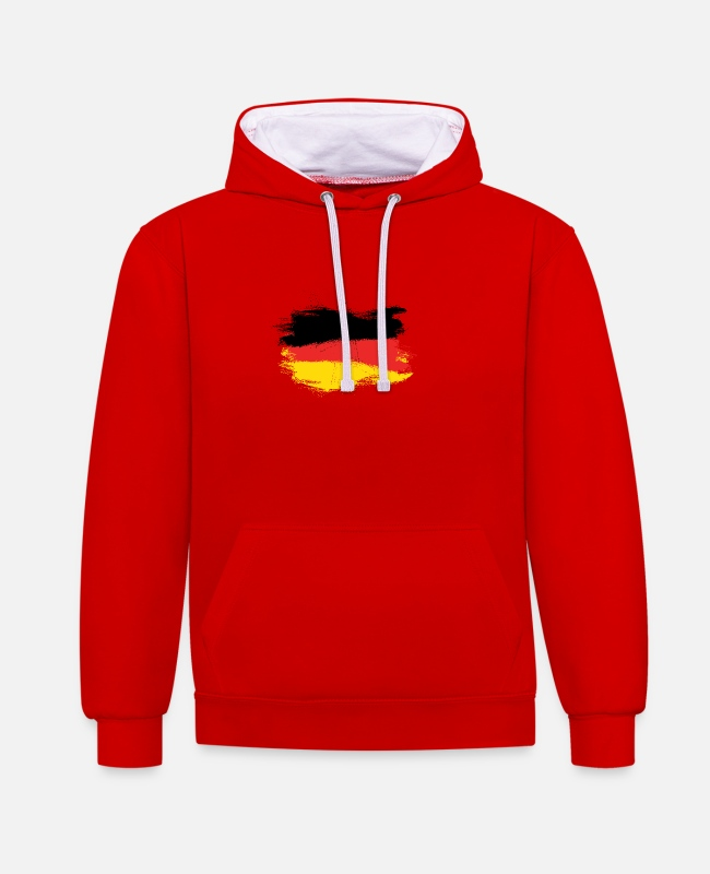 National Team Hoodies & Sweatshirts - Germany Germany flag - Unisex Contrast Hoodie red/white