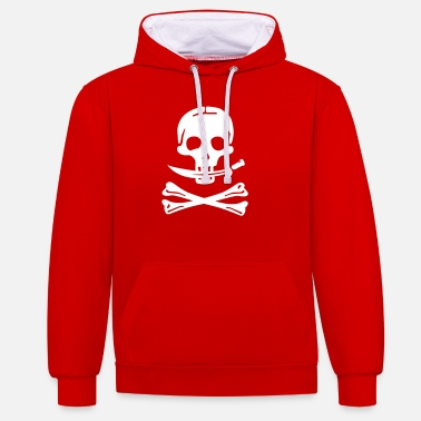La Piraterie Pirate - pirates - Sweat à capuche contrasté unisexe