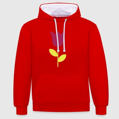 2541614 11452987 tulip - Contrast Colour Hoodie