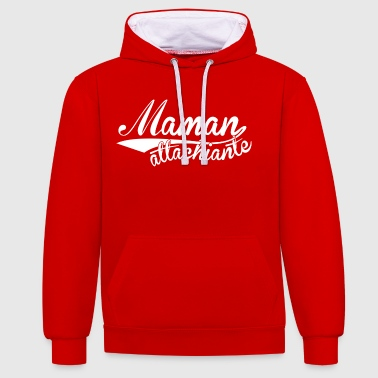 Maman attachiante - Sweat-shirt contraste