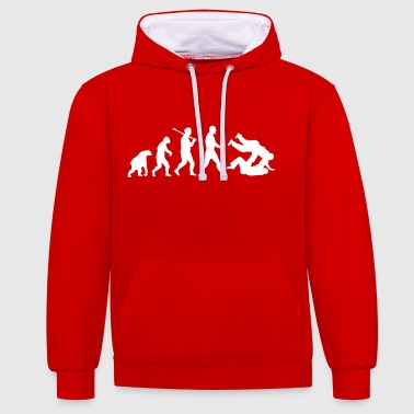 Evolution: Judo Jiu Jitsu - Contrast Colour Hoodie