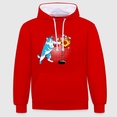 Hard, but with velvet paw - Contrast Colour Hoodie
