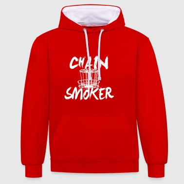 chain smoker - Contrast Colour Hoodie