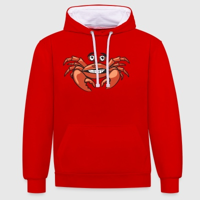 Monsieur le crabe - Sweat-shirt contraste