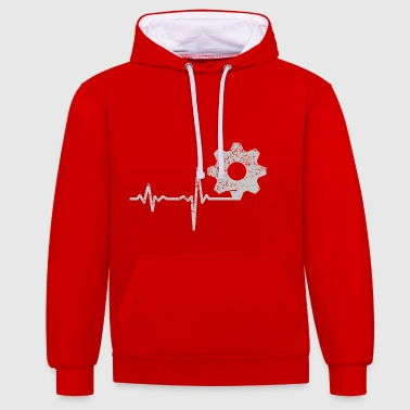 Cadeau électronique Heartbeat - Sweat-shirt contraste