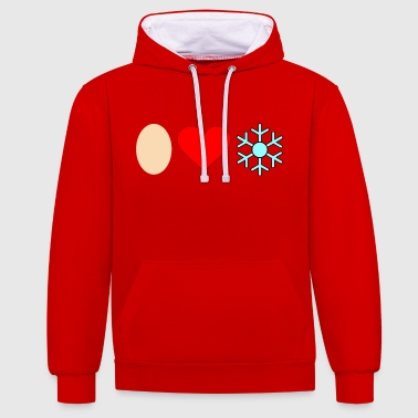 Egg love snow - Contrast Colour Hoodie