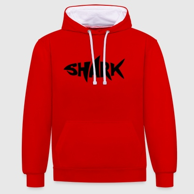 2541614 127470531 shark - Contrast Colour Hoodie