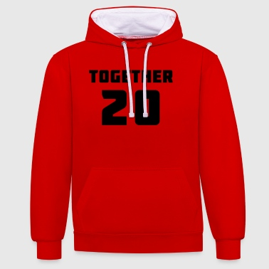 Together - 20 - Contrast Colour Hoodie