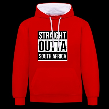 Straight Outta Zuid-Afrika - Contrast hoodie