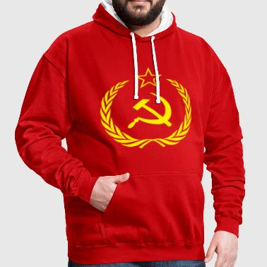 Flag Soviet Union Cold War - Contrast Colour Hoodie