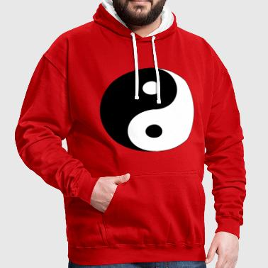 Yin and Yang (colors customizable!) - Contrast Colour Hoodie