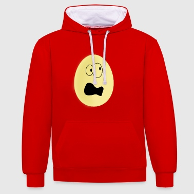 egg - Contrast Colour Hoodie