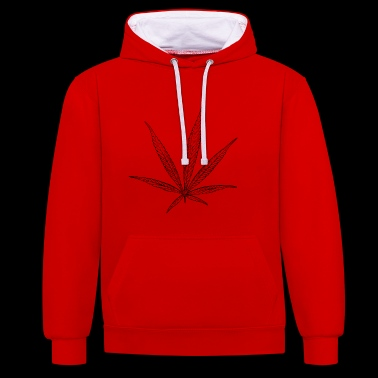 hemp cannabis kiffen marijuana hemp grass gras9 - Contrast Colour Hoodie