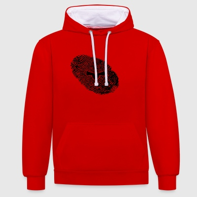 fingerprint dns dna gift weapon sheriff weapo - Contrast Colour Hoodie