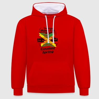 HOLIDAY JAMESICA ROOTS TRAVEL IN Jamaica Constan - Contrast Colour Hoodie