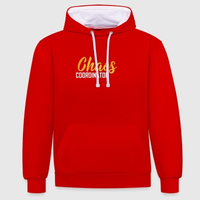chaos coordinator - Contrast Colour Hoodie