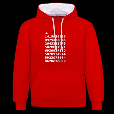 Pi as a gift - Contrast Colour Hoodie