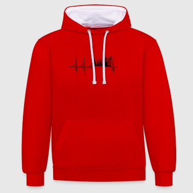 Heartbeat to travel - Contrast Colour Hoodie