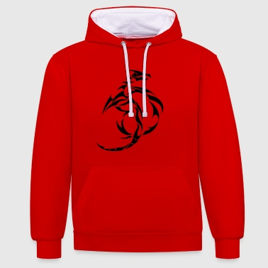 Dragon Tribal - Contrast Colour Hoodie