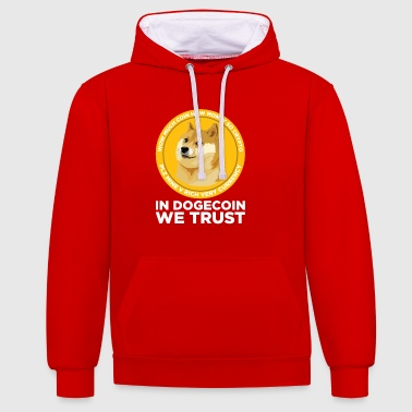 Dans Dogecoin We Trust- Funny Blockchain Crypto - Sweat-shirt contraste
