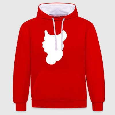 Beard of Santa Claus - Contrast Colour Hoodie