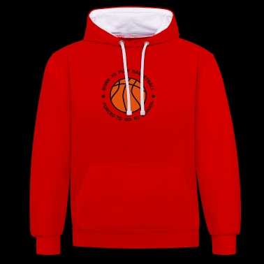 6061912 126270788 Basketball - Contrast Colour Hoodie