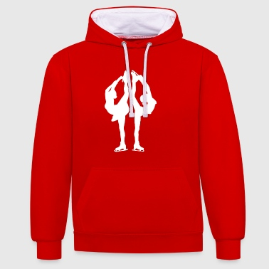 Figure skating Ice skating Ice dance figures - Contrast Colour Hoodie