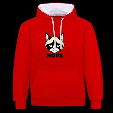 grumpy cat nope Grumpy cat nope - Contrast Colour Hoodie