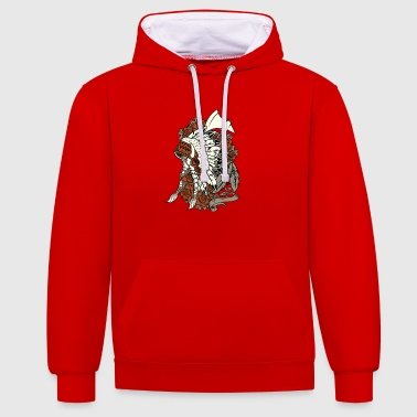 Indian Indian Christmas Gift Ax New New - Contrast Colour Hoodie