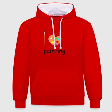 peinture - Sweat-shirt contraste