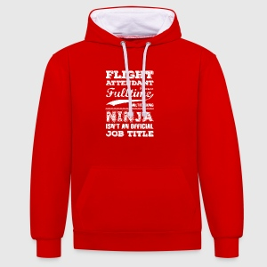 Flight Attendant gift idea birthday t-shirt - Contrast Colour Hoodie