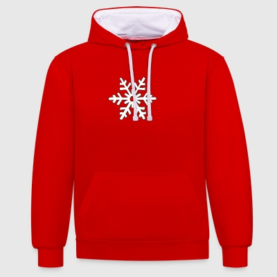 snowflake 1 - Contrast Colour Hoodie