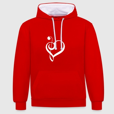 Music is life ! - Contrast Colour Hoodie