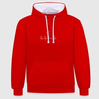 Heartbeat Golf - Contrast Colour Hoodie