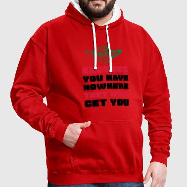 EXCUSES WILL GET YOU NOWHERE - MASTER YODA - Kontrast-Hoodie