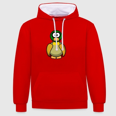Cartoon chick 4 - Contrast Colour Hoodie