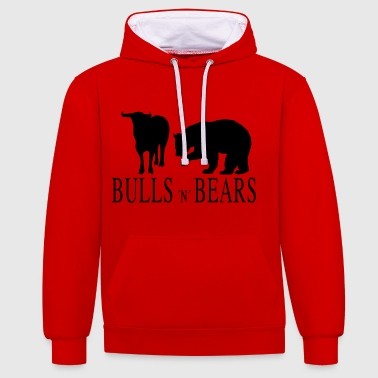 Bulls and Bears - Contrast Colour Hoodie