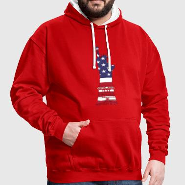 Lady Liberty USA - Contrast hoodie