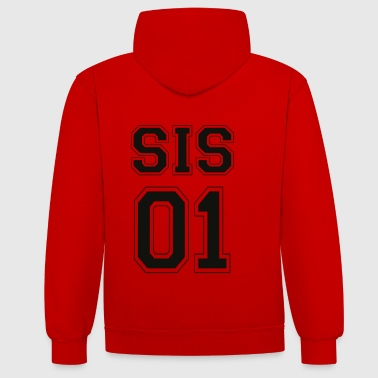 SIS 01 - Black Edition - Contrast Colour Hoodie