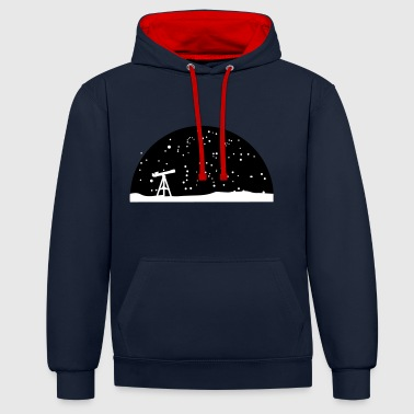 Astronomie, Telescope and stars - Sweat-shirt contraste