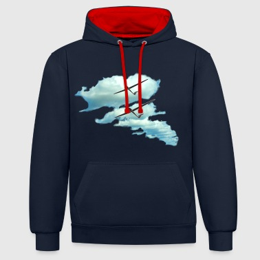 Glider cloudstreet - Contrast Colour Hoodie