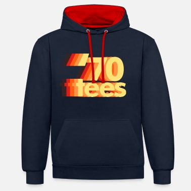 70th Shift logo - Contrast Colour Hoodie