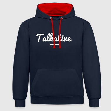TALKATIVE - Contrast Colour Hoodie