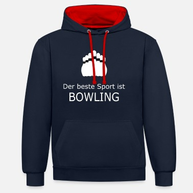 The best sport is bowling white - Contrast Colour Hoodie