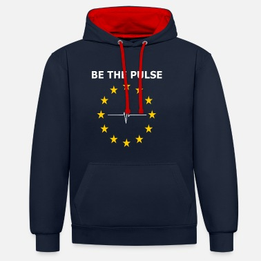 BE THE PULSE - Contrast Colour Hoodie