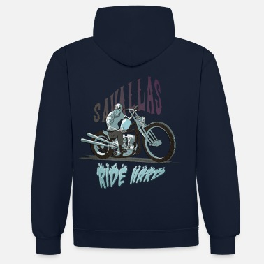 Bikes And Cars Collection Ride Hard - Kontrast-Hoodie