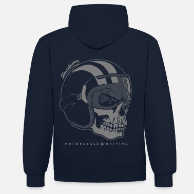 helmet skull negative - Sweat-shirt contraste