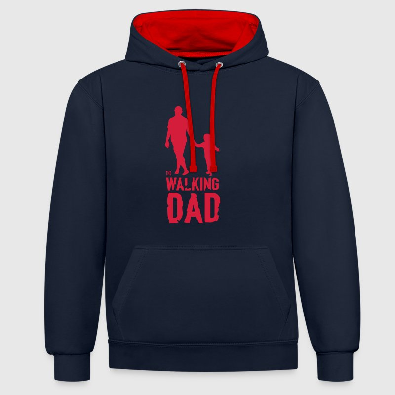 The Walking Dad - Contrast Colour Hoodie