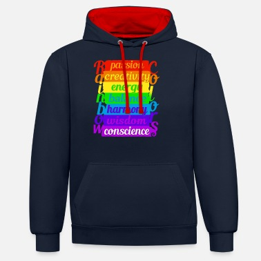 Rainbow Rainbow and colors - Unisex Contrast Hoodie