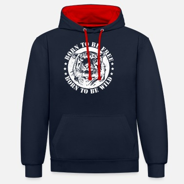 Date Of Birth Birth dates and to be wild! - Unisex Contrast Hoodie